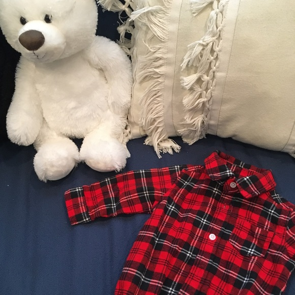 Carter's Other - Boys flannel bodysuit 6 months